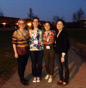 Lauren Clemens, Madeleine Mees, Cora LeSure, and Jessica Coon at the Syposium on American Indian Languages in Rochester
